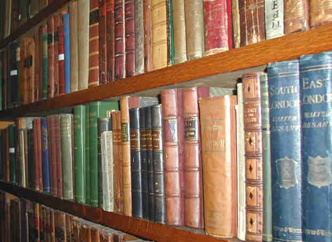 Libraries - Museum Library bookshelves